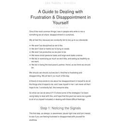 A Guide to Dealing with Frustration & Disappointment in Yourself