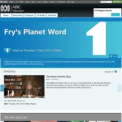 Fry's Planet Word : ABC TV