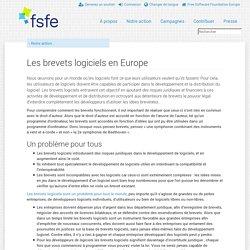Brevets logiciels en Europe