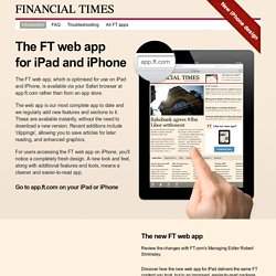 The new FT app