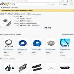 50ft 50 FTCAT5 cat 5 RJ45 Ethernet Network Cable blue - eBay (item 180536548960 end time Feb-17-11 09:26:45 PST)