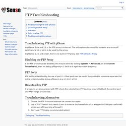 FTP Troubleshooting