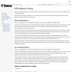 FTP without a Proxy