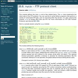 20.8. ftplib — FTP protocol client — Python 2.7.8 documentation