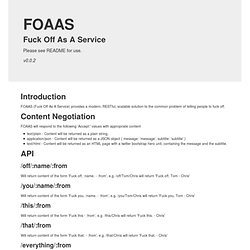 Fuck Off As A Service (FOAAS)