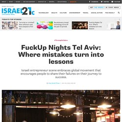 FuckUp Nights Tel Aviv: Where mistakes turn into lessons