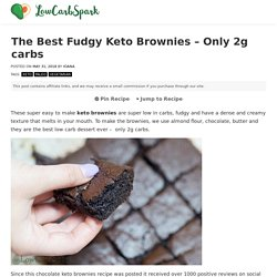The Best Fudgy Keto Brownies - Only 2g carbs - Low Carb Spark