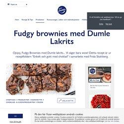 Fudgy brownies med Dumle Lakrits - Fazer