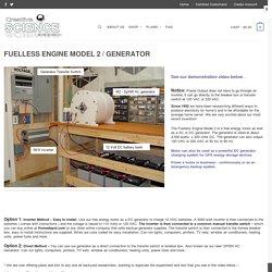 Fuelless Engine Model 2 / Generator – SP500 AC Generator – Free Energy Motors and Generators
