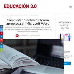 Cómo citar fuentes de forma apropiada en Microsoft Word