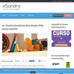 20+ Fuentes Gratis Excelentes Para Diseño Web