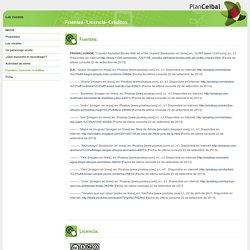 Fuentes- Licencia- Créditos