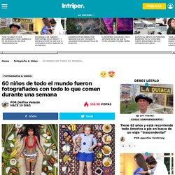 60 niños de todo el mundo fueron fotografiados con todo lo que comen durante una semana