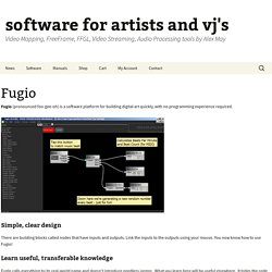 software for artists and vj's