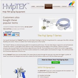 Fuji Hvlp turbine spray guns