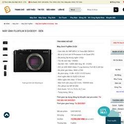 Máy ảnh Fujifilm X-E4 Body bảo hành chính hãng, giá tốt