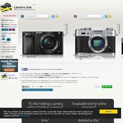 Sony Alpha a6000 vs FujiFilm X-T10 Camera Size Comparison