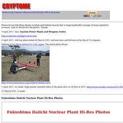 Fukushima Daiichi Nuclear Plant Hi-Res Photos