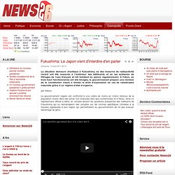 Fukushima: Le Japon vient d'interdire d'en parler