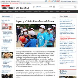 Japan gov't fails Fukushima children - News