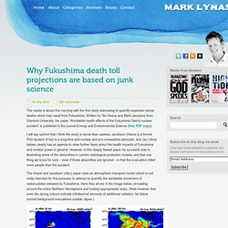 Mark Lynas » Why Fukushima death toll projections are based on junk science