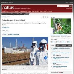 Fukushima's doses tallied