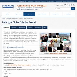 Fulbright Global Scholar Award