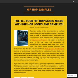 Fulfill Your Hip Hop Music Needs With Hip Hop Loops And Samples!