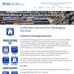 Fulfillment Packaging Services