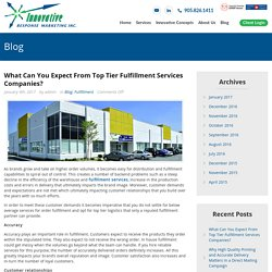 What Can You Expect From Top Tier Fulfillment Services Companies?