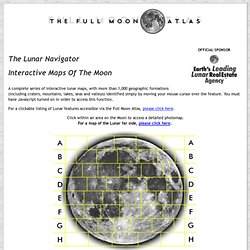 The Full Moon Atlas : Lunar Navigator : Map of the Moon