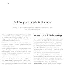 Full Body Massage Indiranagar