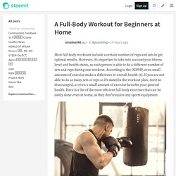 A Full-Body Workout for Beginners at Home