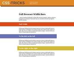 Full Browser Width Bars