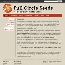 Full Circle Seeds: About Us