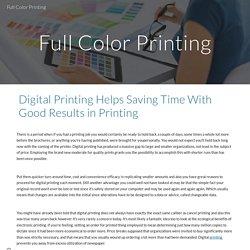 Full Color Printing