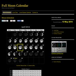 Full Moon Calendar 2012 — Moon Schedule. When Is The Next Full Moon? Full Moon Dates