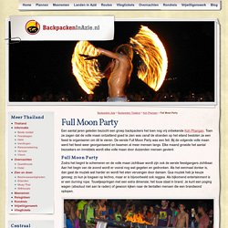Full Moon Party - Backpacken in Azie