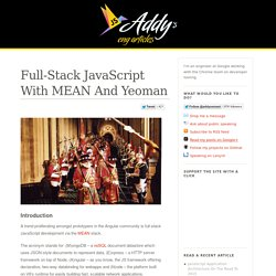 Full-Stack JavaScript With MEAN And Yeoman