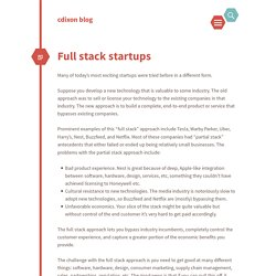 Full stack startups
