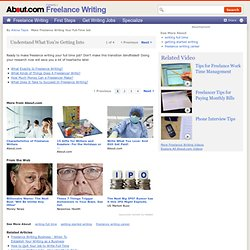 Full Time Freelance Writing - Make Freelance Writing Your Full Time Job
