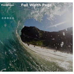 Full Width Page – PhotoBlogger