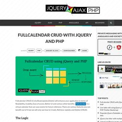 Fullcalendar CRUD with jQuery and PHP jQuery Ajax PHP