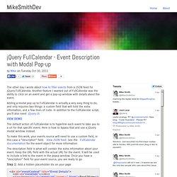 jQuery FullCalendar - Event Description with Modal Pop-up