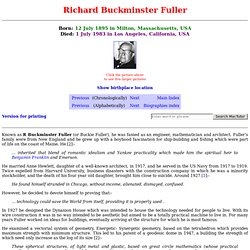 Fuller biography