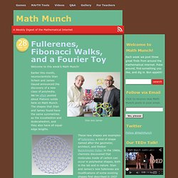Fullerenes, Fibonacci Walks, and a Fourier Toy