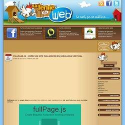 fullPage.js - Créez un site fullscreen en scrolling vertical