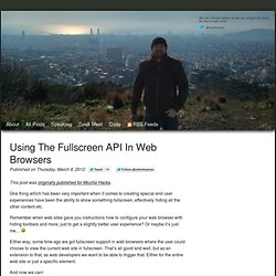 Using the Fullscreen API in web browsers