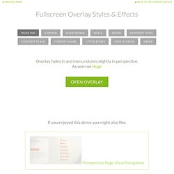 Fullscreen Overlay Styles & Effects