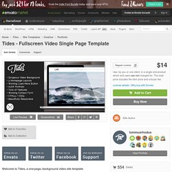 Tides - Fullscreen Video Single Page Template